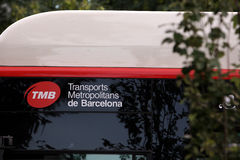 Bus in Barcelona Stock Photo