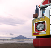 Bus On The Beach Royalty Free Stock Photos
