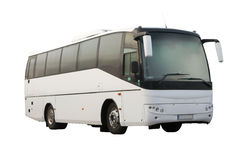 Bus bianco del passeggero isolato Immagini Stock