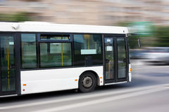 Bus bianco della città Immagini Stock