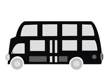 Bus, black silhouette Stock Photo