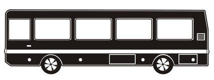 Bus black Stock Images