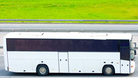 Bus blanc images stock