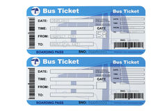 Bus boarding pass tickets Stock Images