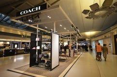 BUS boutiqie bij Suvarnabhumi-Luchthaven Stock Fotografie
