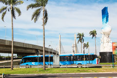 Bus BRT in Rio de Janeiro Stock Photography