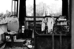 Bus bruciato Immagini Stock Libere da Diritti