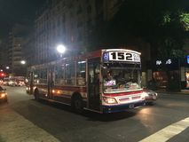152 bus buenos aires royalty free stock photography