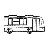 Bus business transport vehicle sketch. Illustration eps 10 Royalty Free Stock Photo