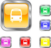 Bus Button. This is an internet or web button depicting a bus Stock Photo