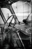 Bus cabin. Black and white. Stock Photography