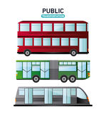 Bus cable car and railways vehicle design Stock Image