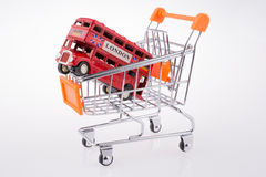 Bus in a Cart Stock Images