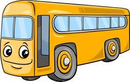 Bus character cartoon illustration Royalty Free Stock Photo