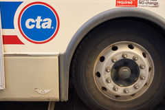 A bus in Chicago. CHICAGO, IL - CIRCA MARCH, 2016: CTA sign on a bus in Chicago. Chicago is the third most populous city in the United States Stock Photography