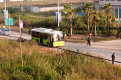 Bus in China countryside Stock Photography
