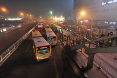 Bus chinois Photographie stock