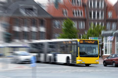 Bus in the city Stock Photos