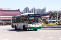 Bus in city, China Royalty Free Stock Photos
