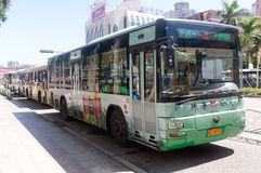 Bus in city, China Royalty Free Stock Photography