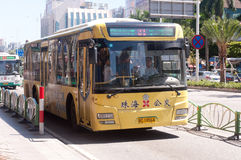 Bus in city, China Royalty Free Stock Image