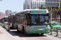 Bus in city, China Stock Photography