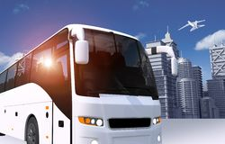 Bus in the City Illustration Royalty Free Stock Photos