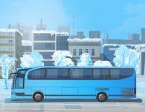 Bus on city street Stock Image