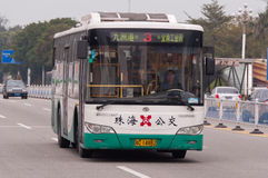 Bus in city, Zhuhai China Stock Images