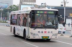 Bus in city, Zhuhai China Royalty Free Stock Photos