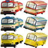 Bus collection in thailand Royalty Free Stock Images