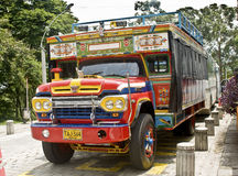 Bus colombien type Photos stock