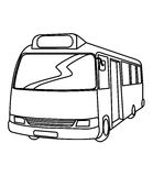 Bus coloring page Royalty Free Stock Photography