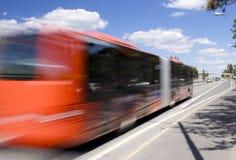 Bus commovente Fotografie Stock