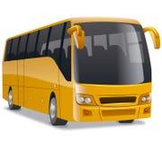 Bus comodo dorato della città illustrazione di stock