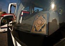 Bus con il quran Fotografia Stock Libera da Diritti