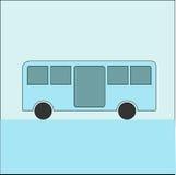 Bus con il tema pastello Immagini Stock Libere da Diritti