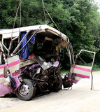 Bus crash Stock Images