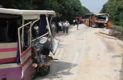 Bus crash Stock Image