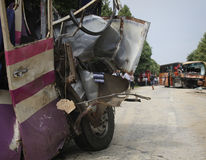 Bus crash Stock Photos