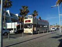 Bus. Cyprus pathos 2016 beach Royalty Free Stock Photography