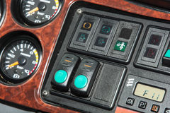 Bus dashboard detail Stock Images