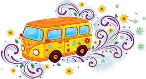 Bus de hippie Photo stock