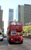 Bus de rouge de course de Montréal Images libres de droits