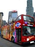Bus de rouge de course de New York Photographie stock
