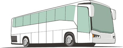 Bus de touristes Photo libre de droits