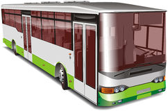 Bus de ville d'isolement illustration stock