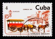 Bus del cavallo, serie di trasporto, circa 1981 Immagine Stock Libera da Diritti