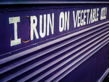 Bus del combustibile biologico Immagine Stock Libera da Diritti