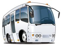 Bus del fumetto di vettore Fotografie Stock Libere da Diritti